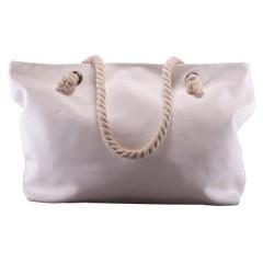 Bolsa de nylon especial de lona blanca, personalizables con impresión full color.