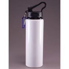 Botella deportiva con paja transparente, personalizados full color
