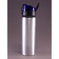 Botella de deporte blanca con prensa de botón, para sublimación, impresion full color