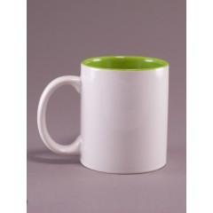 Taza verde interna de sublimación, para sublimación, impreso full color