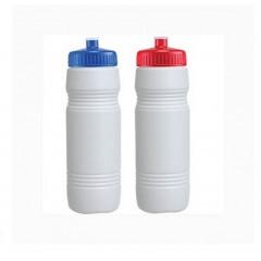 Botella deportiva frost traslucida con tapa de color