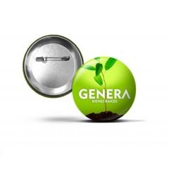 """Botón plastico promocional de 2.25"""" de diametro"""