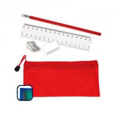 Set de cartuchera transparente con zipper