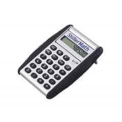 Calculadora plastica modelo flip, con tapa que funciona como base sostenedora