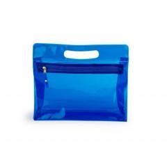 Cosmetiquera de plastico traslucido con zipper y agarradero