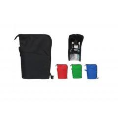Cosmetiquera necessaire de viaje, con elasticos internos, plastico protector, cierre zipper