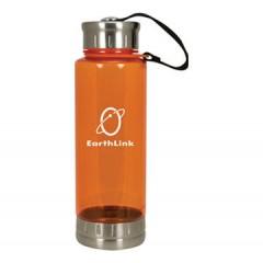 Vaso de acrilico deportivo de 24 oz, trasparente con tapa enroscable