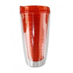 Vaso de acrilico termico dobleinsulacion, trasparente con interior de color