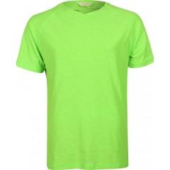 Camiseta marka lacrosse cuello v, neonrun, dry fit