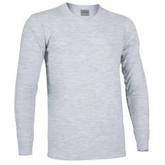 Camiseta marca lacrosse, cuello redondo, manga larga