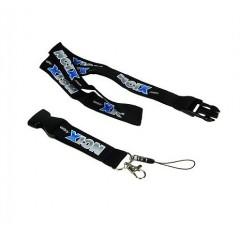"""Collar porta identificacion, lanyard, de 3/4""""O 2 cm, con clip que desprende. nylon."""
