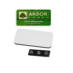 Identificador, name tag, para sublimacion, rectangular