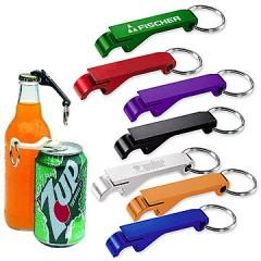 Llavero de metal con abre botella y abre lata