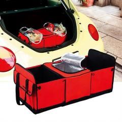 Organizador para maletero con dos divisiones y cooler insulado