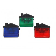 Clip magnetico en forma de casita, sostenedor de notas con iman en parte trasera