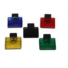 Clip magnetico rectangular, sostenedor de notas con iman en parte trasera