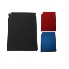 Cuaderno de cuerina con porta plata lateral