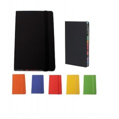 Cuaderno en cuerina de color