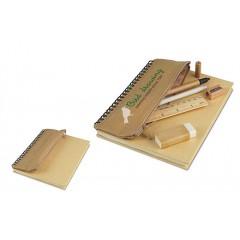 Cuaderno espiral de caratula reciclada natural