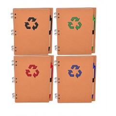 Libreta espiral portada reciclada