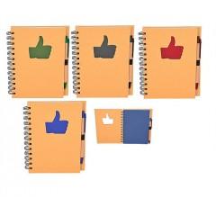 Libreta especial reciclada con manito de like