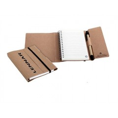 Libreta espiral reciclada con cover de carton reciclado