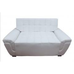 Sofá blanco futoneado 2 puestos