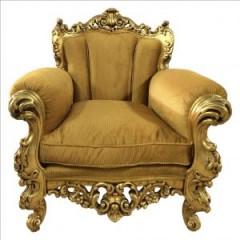 Poltrona dorada Rococo