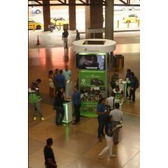Activación de  campaña btl   en la terminal de albrook  en plaza central