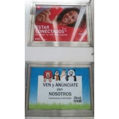 Publicidad en  fachada en albrook (pared en la  entrada de los estacionamientos privados)