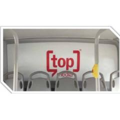 Publicidad móvil (luneta interior del bus)