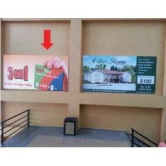 Vallas publicitarias terminal albrook (escalera de llegada a la Plaza de Comida Norte)