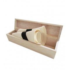 Sombrero Panamá Hat con caja de madera