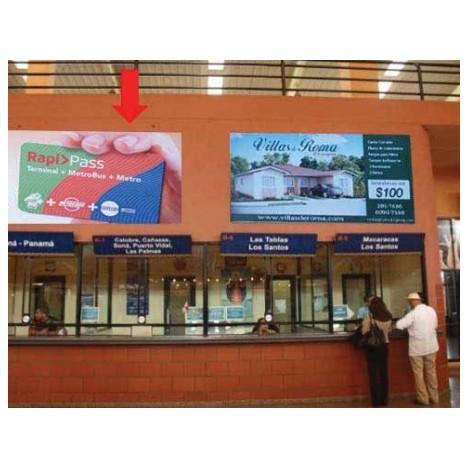 Vallas publicitarias terminal albrook (boleterias b07,08)