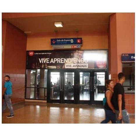 Vallas publicitarias terminal de albrook (puerta sala de espera B2)