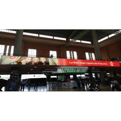 Vallas publicitaria terminal de albrook (plaza central parte superior counter metro libre)