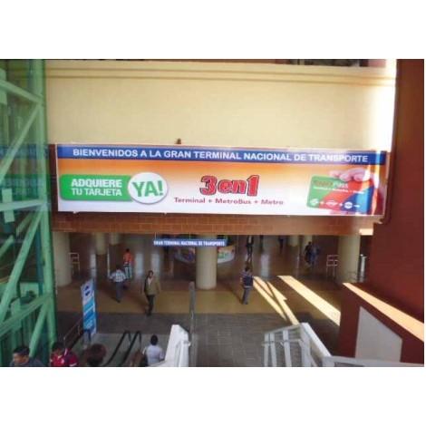 Vallas publicitarias terminal de albrook (interconexion del metro con la terminal)