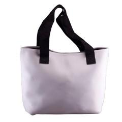 Bolsa blanca con correa, como artículos promocionales 36x25cm
